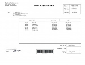 Roberto PURCHASE ORDER -