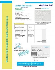 Riches Hospital Bill