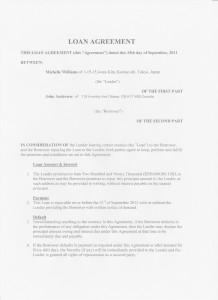 Williams Loan Agreement