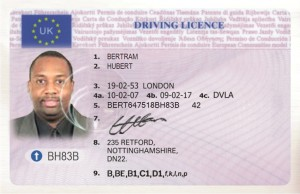 HUBERT drivers licence copy