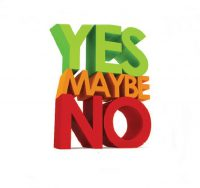 yes no maybe graphic