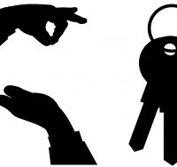hands and house keys
