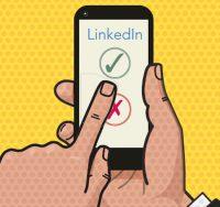 Linkedin app on phone