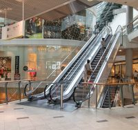 shopping mall escalator