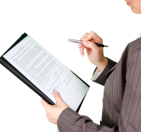 woman reading contract