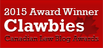 2015 Canadian Law Blog Awards Winner